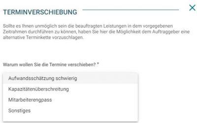 Screenshot-Terminanpassung